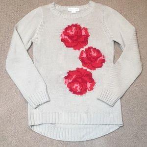 pumpkin patch Girls Sweater w/ Roses, Size 7